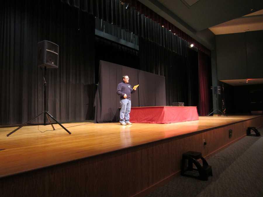 News 8's Matt Zidle emceed the event.