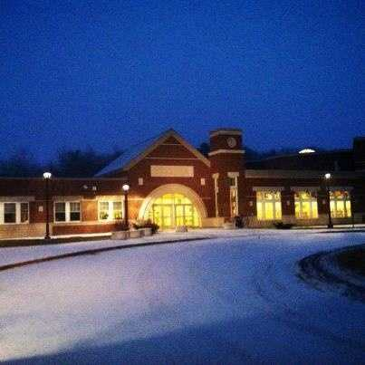 The snow started to blanket Geiger Elementary School in Lewiston Wednesday morning.