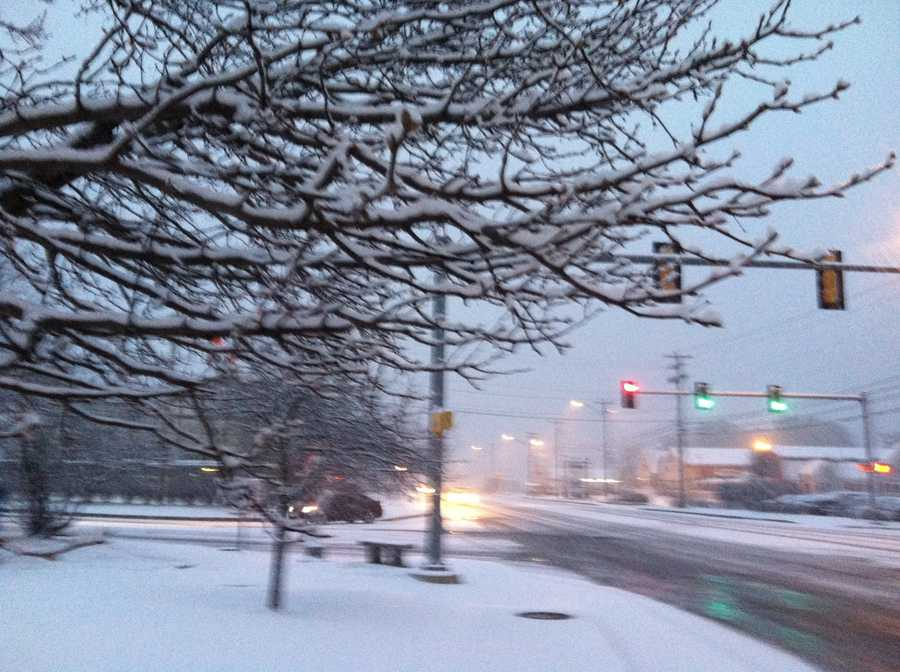 Conditions in Kittey early Wednesday morning.