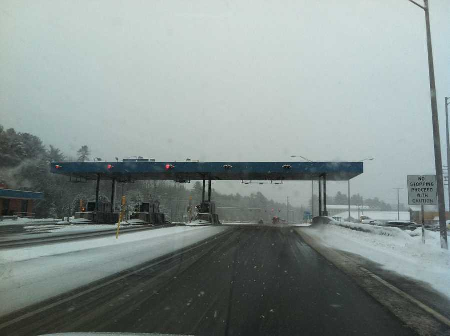 The Exit 42 toll plaza in Scarborough
