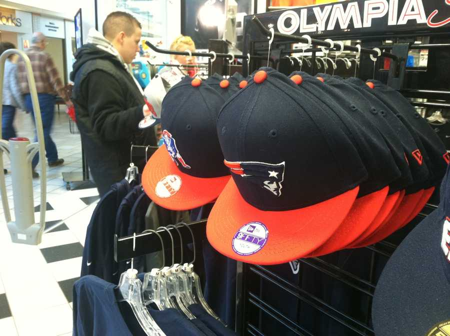 Stores, like Olympia Sports, at the Maine Mall are seeing Patriot's gear fly off the shelves ahead of the game.