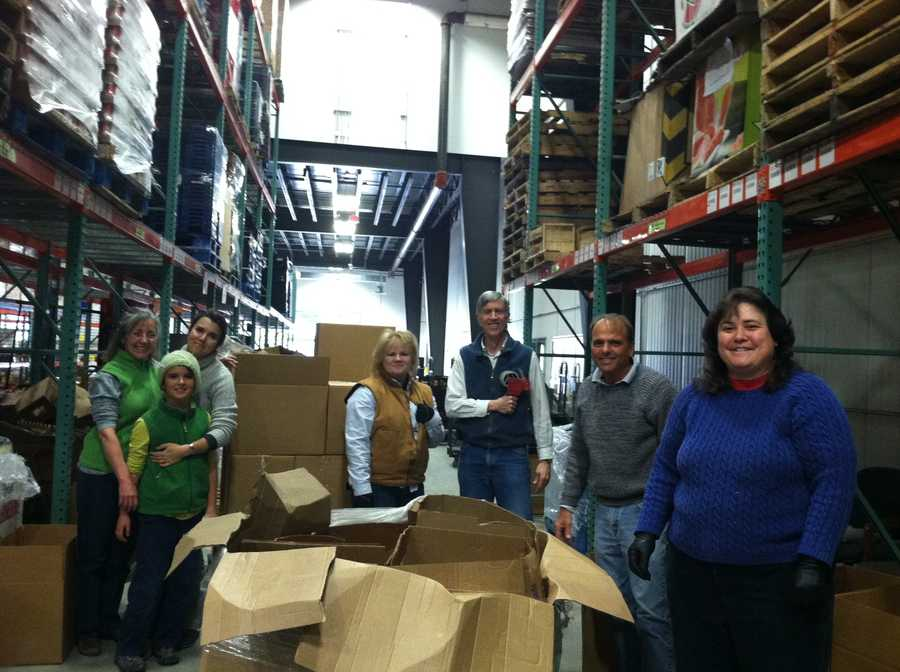 There was an event at the Good Shepherd Food Bank's warehouse in Auburn.
