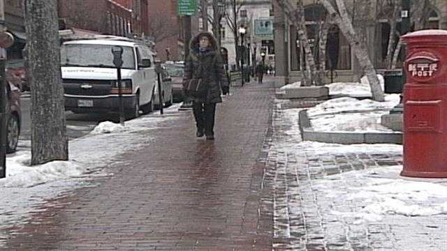 Person Walking In Cold
