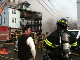Crews battled a fire Tuesday afternoon in Augusta