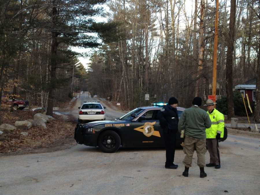 Police in Middleton, N.H., said a man was in custody Thursday evening, following a manhunt and standoff.