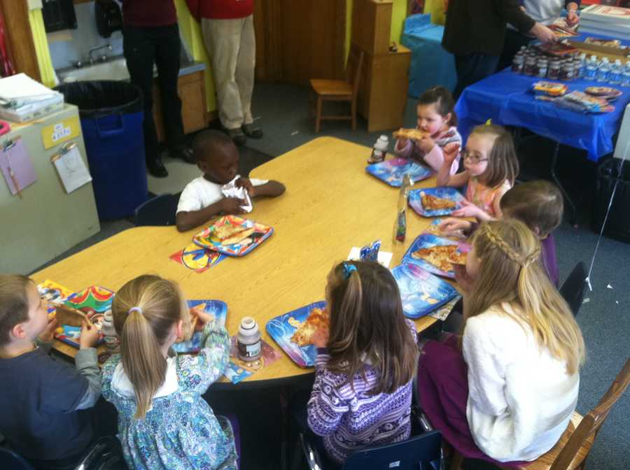 Friday Make-A-Wish held a surprise party for Alice with her classmates at Longfellow Elementary School in Portland.