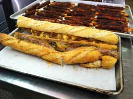 The pork tenderloin baguettes were also made during News 8 This Morning.