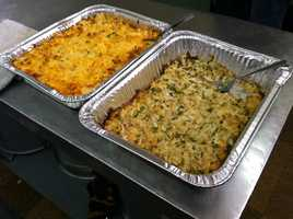 News 8's Norm Karkos and photojournalist Frank Rios took a few bites of the jalapeno crab dip and buffalo chicken spread throughout the morning show.