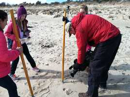 Thanks to an ambitious group of middle school students, scientists in Maine are learning more about the state's beaches.