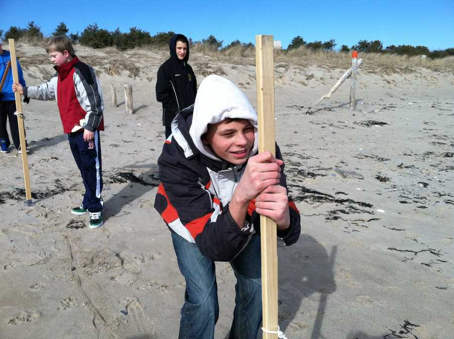 The students say they hope their work inspires Mainers to help save the state's beautiful beaches.