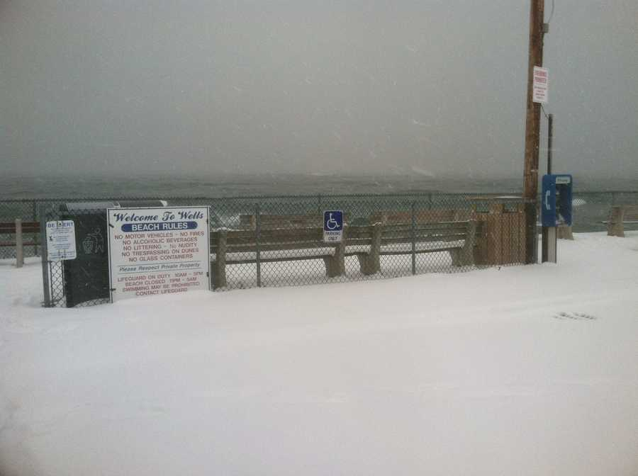 Wells Beach, Friday morning.  Sign up now for Severe Weather Alerts and Local Forecast emails or text messages here.