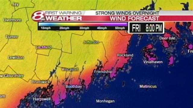 Now click through for a wind timeline for the mid coast which will see the highest winds a little later than the southern coast.