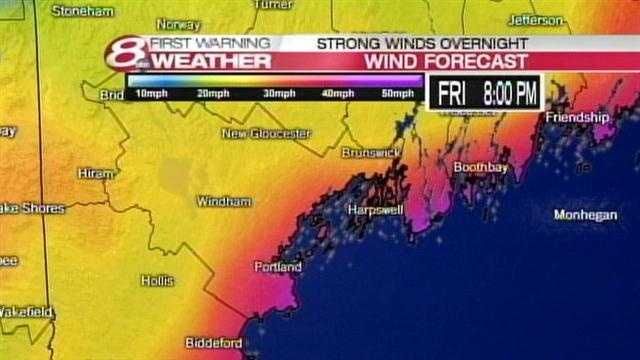 High winds will pound the coast during the nor'easter. Click through for two wind timelines. The first is for the southern coast of Maine, and the second is for the mid coast of Maine