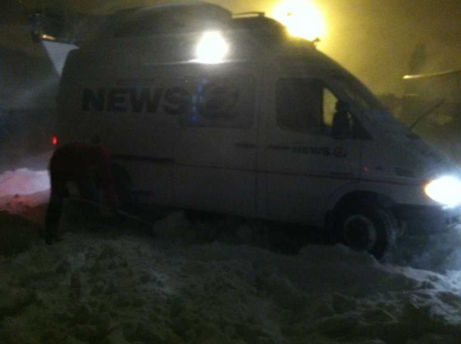 Our SAT Truck isn't going anywhere in this storm!