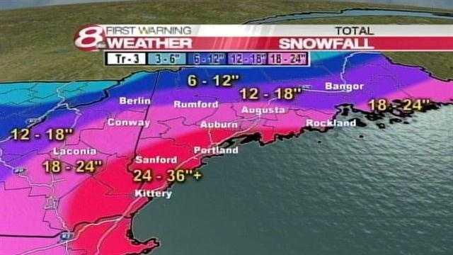10am Snowfall Map