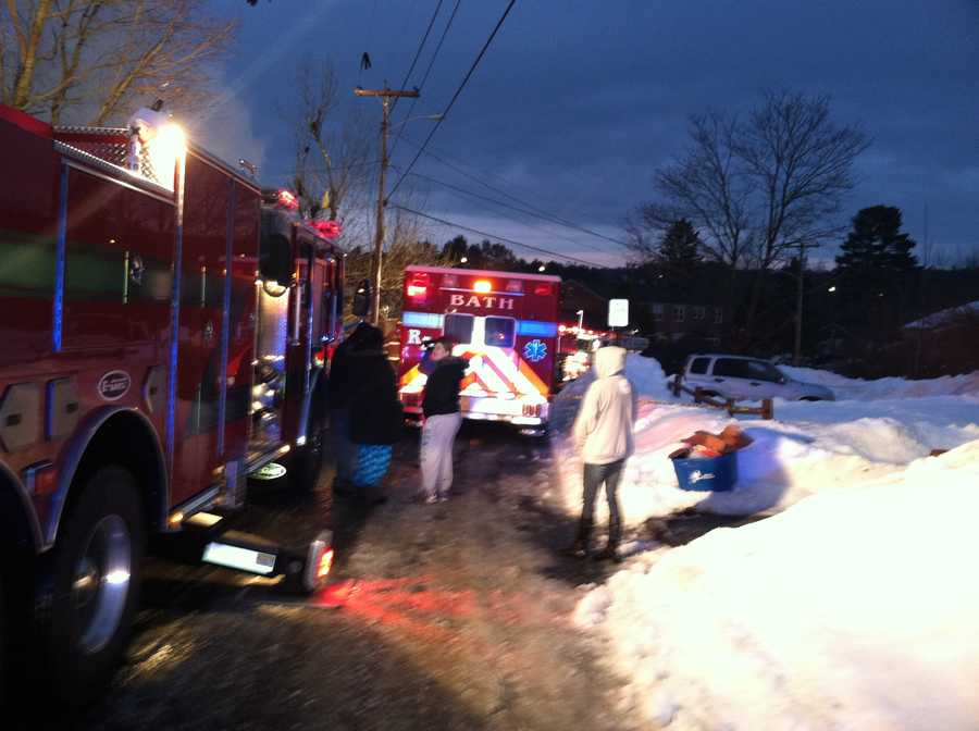 The call came in just after 5 a.m. Tuesday at 29 and 31 Bluff Road.