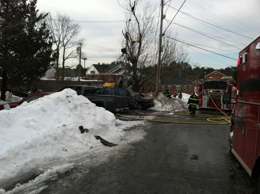 Fire Chief Steve Hinds told News 8 the duplex was on fire when crews arrived.