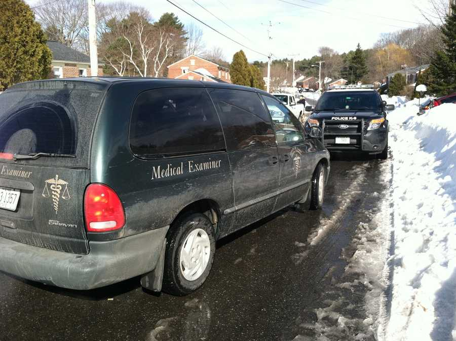 The medical examiner left the scene just before noon.