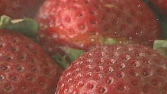 Frozen strawberries are considered defective when the average mold count is 45 percent or more and the mold count of at least half of the subsamples is 55 percent or more.