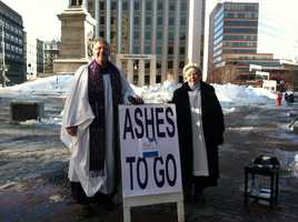 Episcopal clergy in the Portland area are offering ashes and a blessing at several unconventional locations to mark Ash Wednesday.