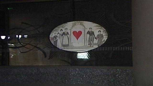 The Valentine's Day Bandit once again plastered the city of Portland with paper hearts.