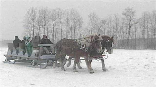 The Great Sleigh Ride celebrated it's 20th year Sunday. Rides benefit the Pine Tree Camp.