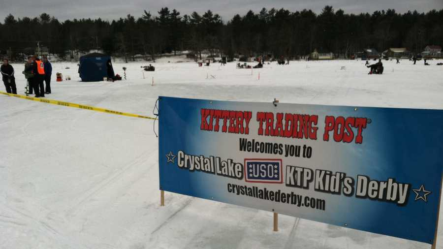 Thousands participate in crystal lake ice fishing derby for Maine ice fishing derbies