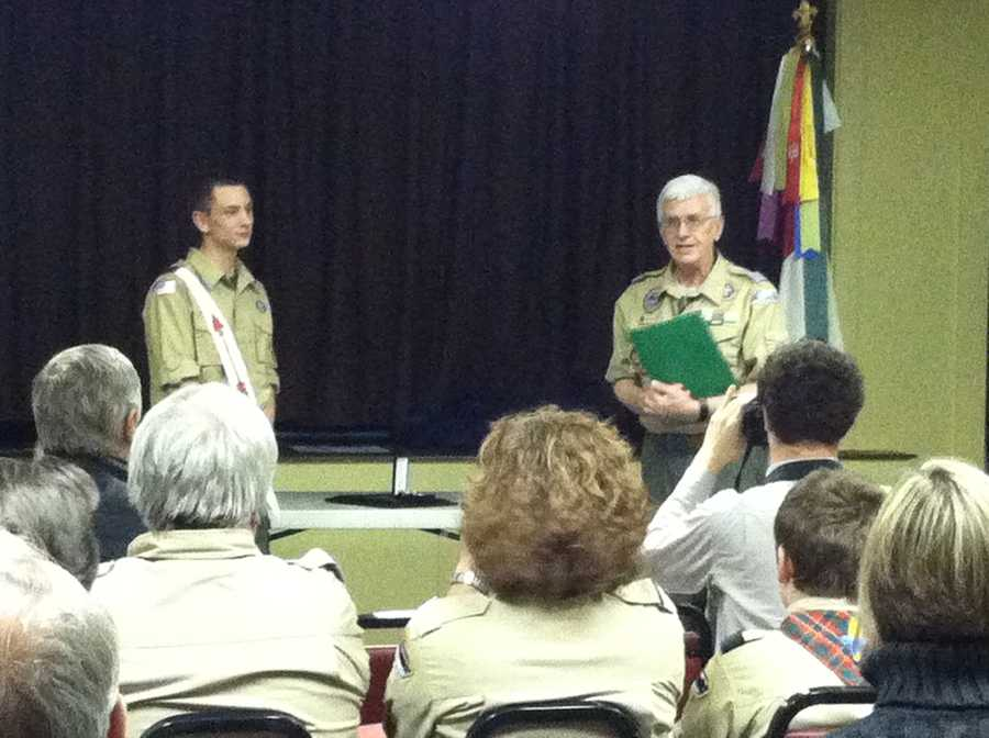Parker said his next goal is to become an Eagle Scout.