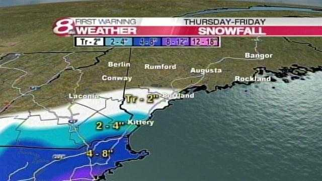 Projected Snow Totals