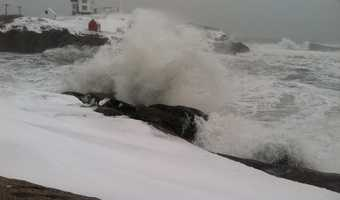 Waves were battering parts of the Maine coast thanks to a powerful ocean storm. Check out more storm photos.
