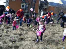 Easter egg hunt in Freeport
