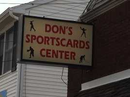 Police said they responded to Don's Baseball Card Center at 10:45 a.m.