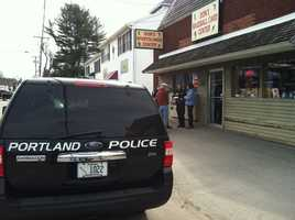 Portland police are investigating after the owner of a card shop was attacked inside his story Monday morning.