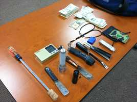These are item police said they seized from Knight