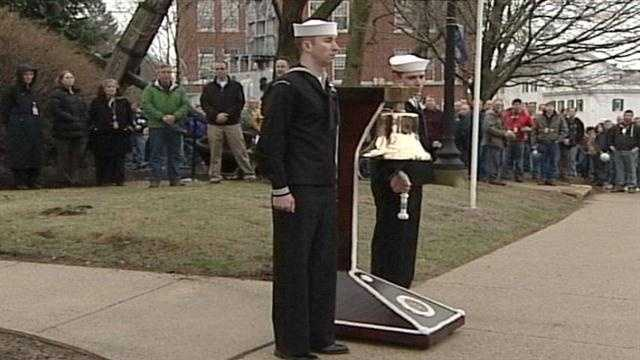 A ceremony was held on Wednesday in recognition of the 50th anniversary of the loss of the USS Thresher submarine. 129 people died in the disaster.