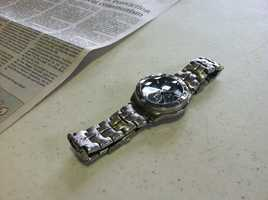The facilities' manager said Knight was trying to steal this watch when he was caught.