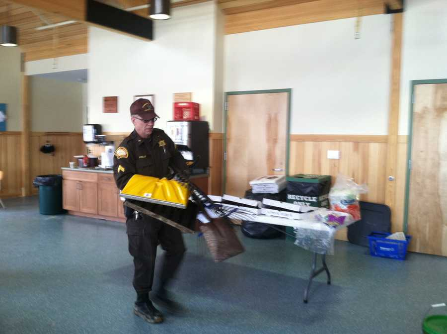 On Thursday Maine Game Wardens began dismantling Knight's camp and removing items from the woods.