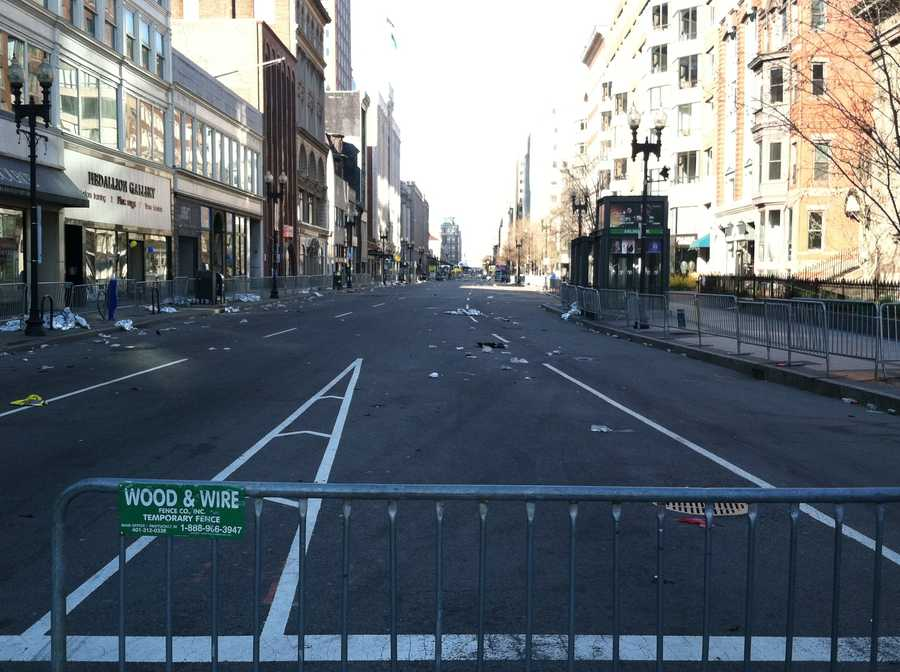Boylston Street Tuesday morning.