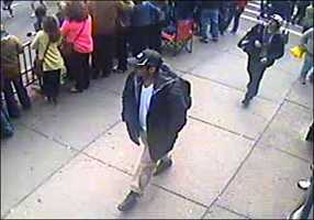 The FBI has released photos of two men it calls suspects in the deadly Boston Marathon explosions. Click through for more images.