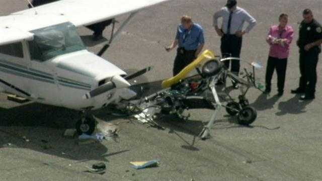 A single-seat gyrocopter crashed in Brevard County on Monday.