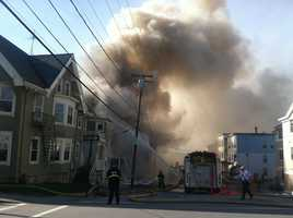 Fire destroyed 3 buildings in downtown Lewiston on Monday.