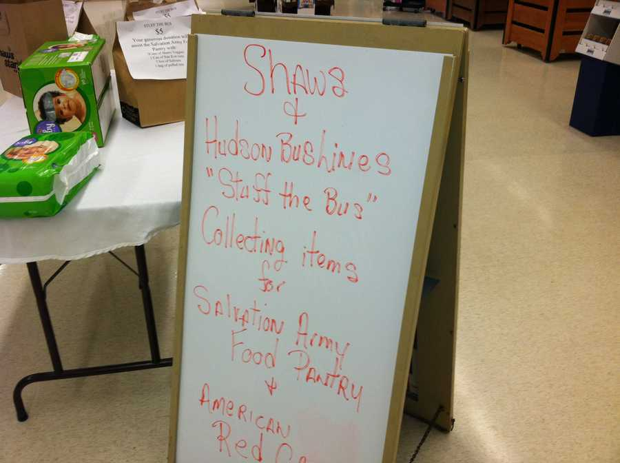 One event was in the Shaw's in Lewiston.