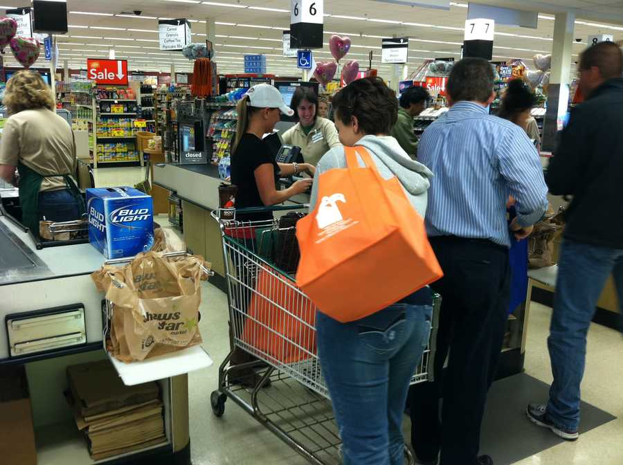 Organizers were looking for donations of nonperishable items.