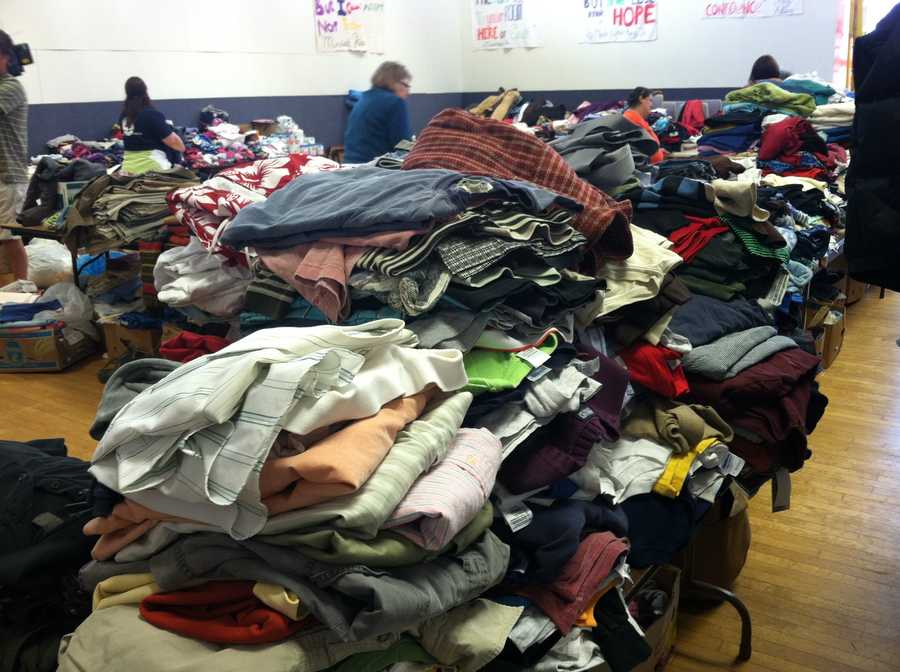 Wednesday: Donations pour in for victims of Blake Street fire. YWCA asks for volunteers to help sort through items.