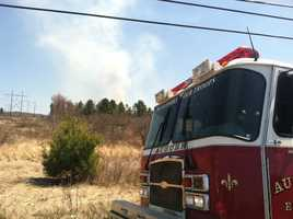 Tuesday afternoon: Lewiston firefighters battled alarge brush fire off of College Road. It was brought under control several hours later, but not before damaging power lines and poles.