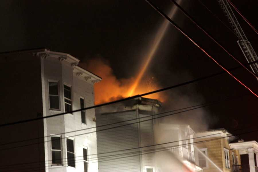 Friday Night: Fire breaks out in Bartlett Street garage and spreads to four other buildings. Fire leaves 104 people homeless