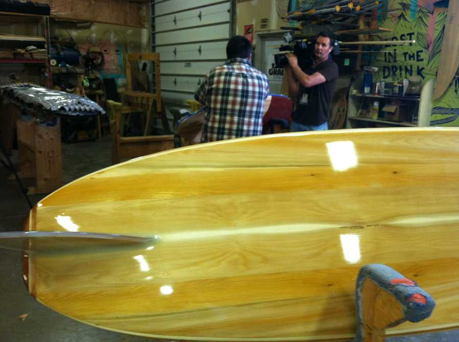 Grain Surfboards has been in business for eight years, and its boards have become renowned around the world.