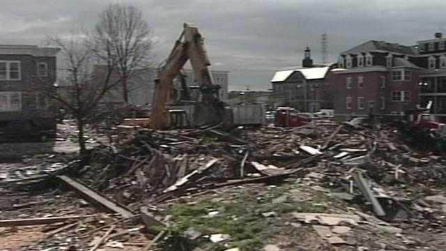 Demolition costs for the buildings destroyed by the fires as hit $200,000.