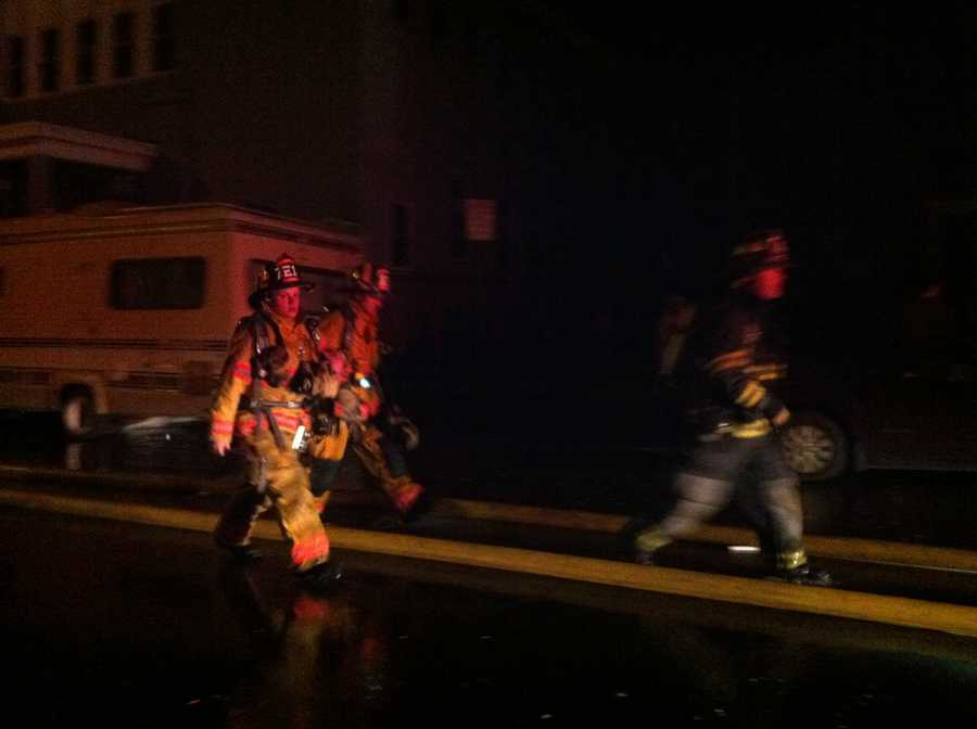 Lewiston's fire chief said the overtime from 68 firefighters battling the fires cost $45,000.