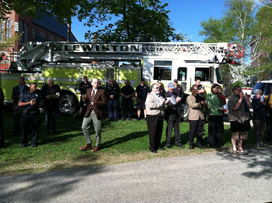 The Lewiston community came together Monday evening for a healing event following three devastating fires in the city.